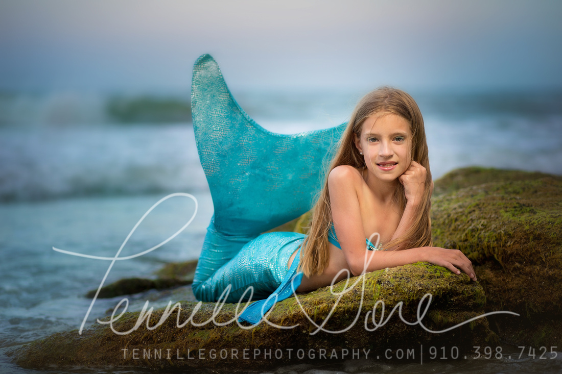 Mermaids! Imagination Sessions  Wilmington NC Children and Baby Photographer