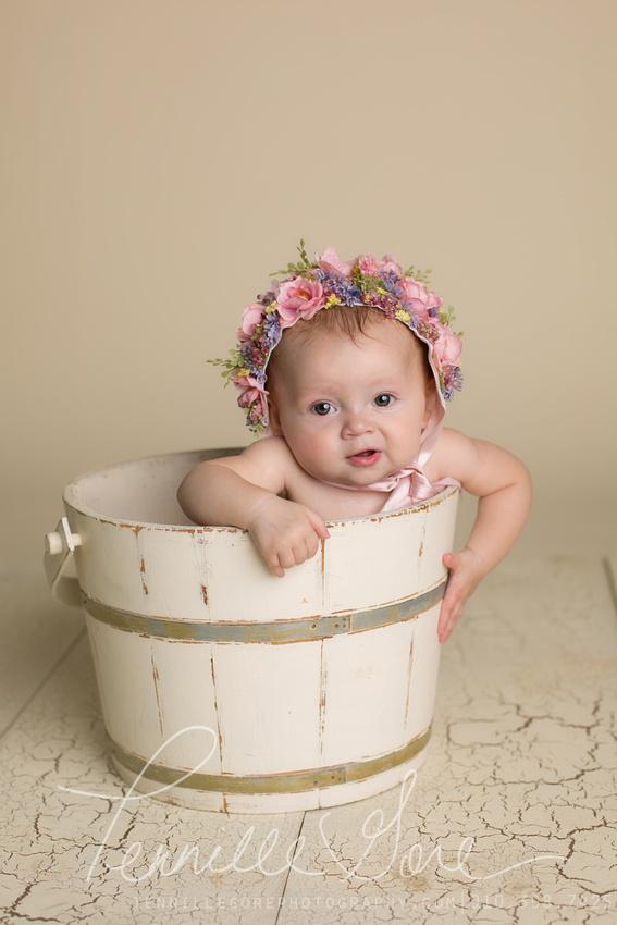 Holman 6 month Milestone session- Wilmington, NC Newborn Photographer