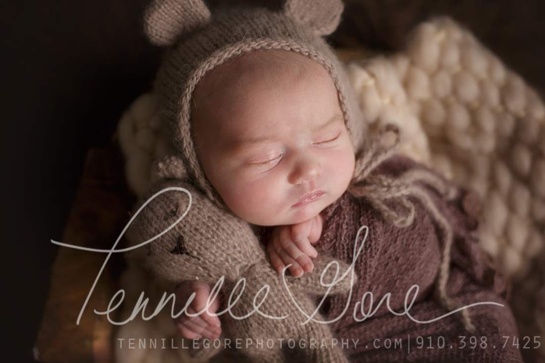 11 day old newborn girl, Custom Studio Session, Lovie and Bonnet| Wilmington NC Newborn Photographer
