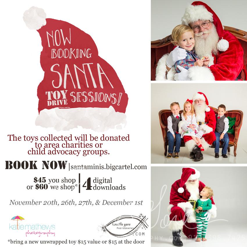 Santa and Child Photos Wilmington, NC