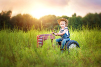 Three year old boy milestone session- Tractor love- Wilmington, NC Children & Baby Photographer