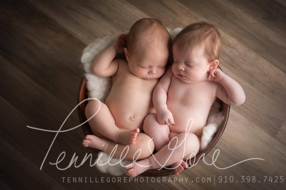 Wiles Twins- Wilmington, NC Newborn Photographer