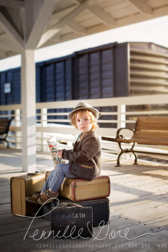 Traveling Styled Milestone Session, Wilmington NC Family Photographer