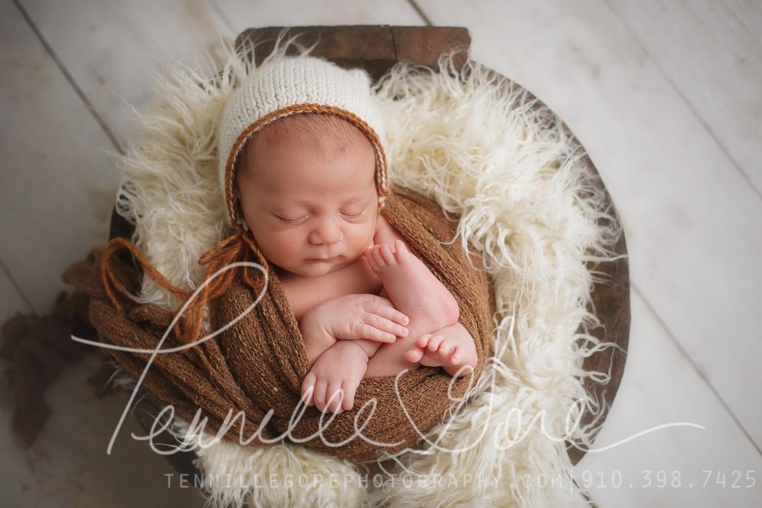 19 day old baby boy| Neutral Tones| Wilmington, NC Newborn Baby Photographer